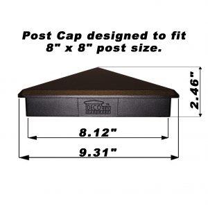 "8"" x 8"" Heavy Duty Aluminium Pyramid Post Cap"