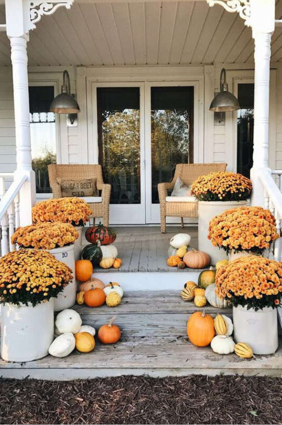 fall porch design