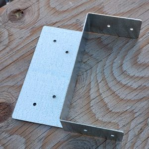 "Post Beam Cap Split Triple Zinc Galvanized for 5.5"" x 5.5"" Wood Posts #197-36"