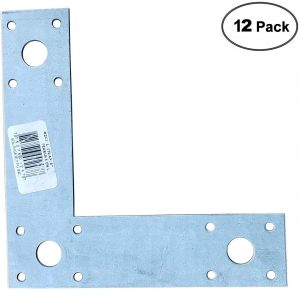 """L Strap 6"""" Beam to Post Connection Support (12pack)"""