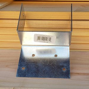"3.5""x3.5"" Post Beam Cap Split Triple Zinc Galvanized for 3.5"" x 3.5"" Wood Posts #197-3 (10 Pack)"