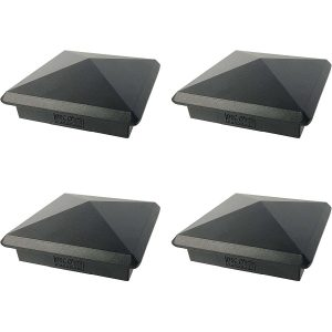 "3.5"" x 3.5"" Decorex Black (4pack)"