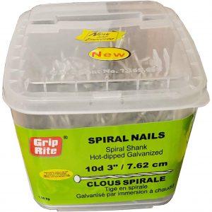 Spiral Shank Nails HDG