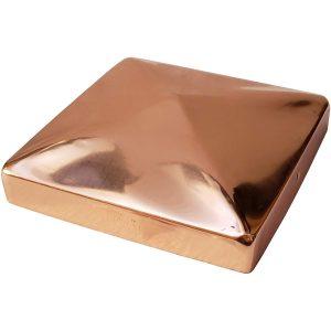 """5.5"""" x 5.5"""" Solid Copper Pyramid Post Cap"""