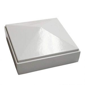 """2.5"""" x 2.5"""" white Pyramid Post Cap 12pack"""