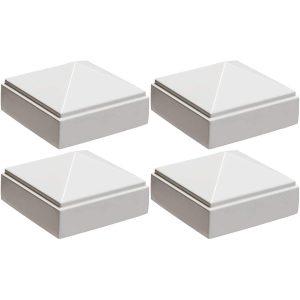 """2"""" x 2"""" white Pyramid Post Cap 4pack"""