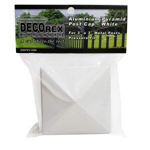 """3"""" x 3"""" white Pyramid Post Cap 6pack"""
