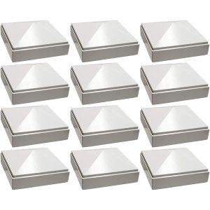 """3"""" x 3"""" white Pyramid Post Cap 12pack"""