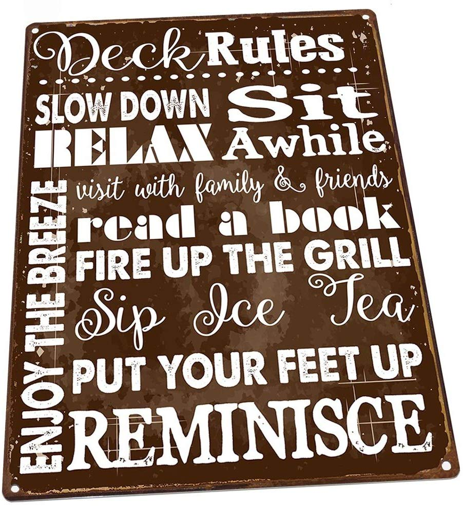 deck accessory sign