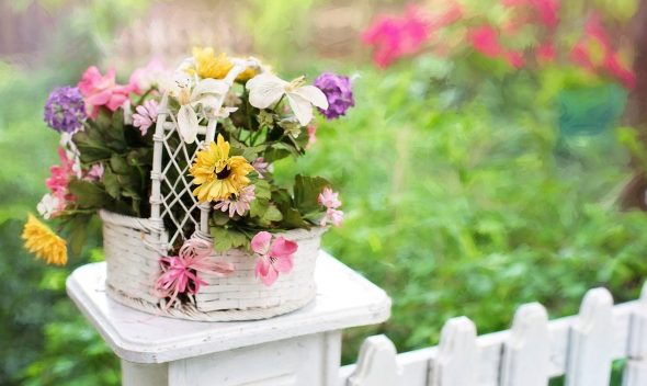 fence flower basket
