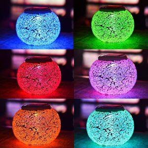 solar power glass ball