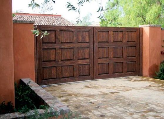 rustic wood square gate