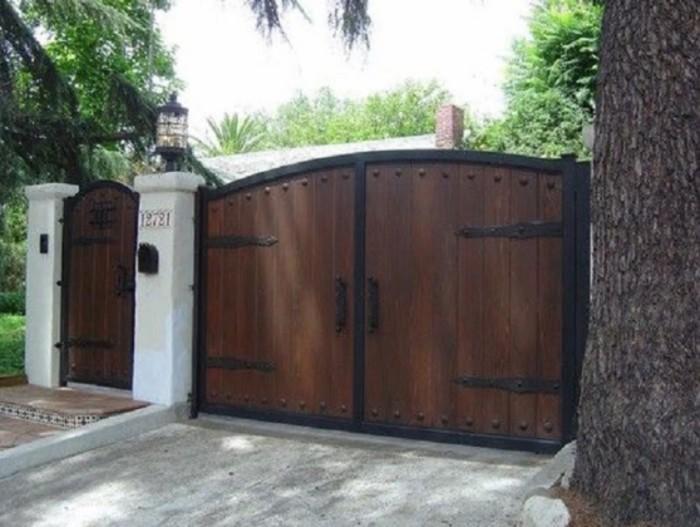 gothic wood fence gate
