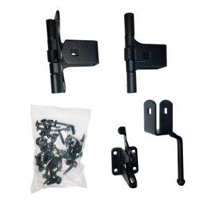 Nuvo Iron Gate Hardware Kit Galvanized Steel