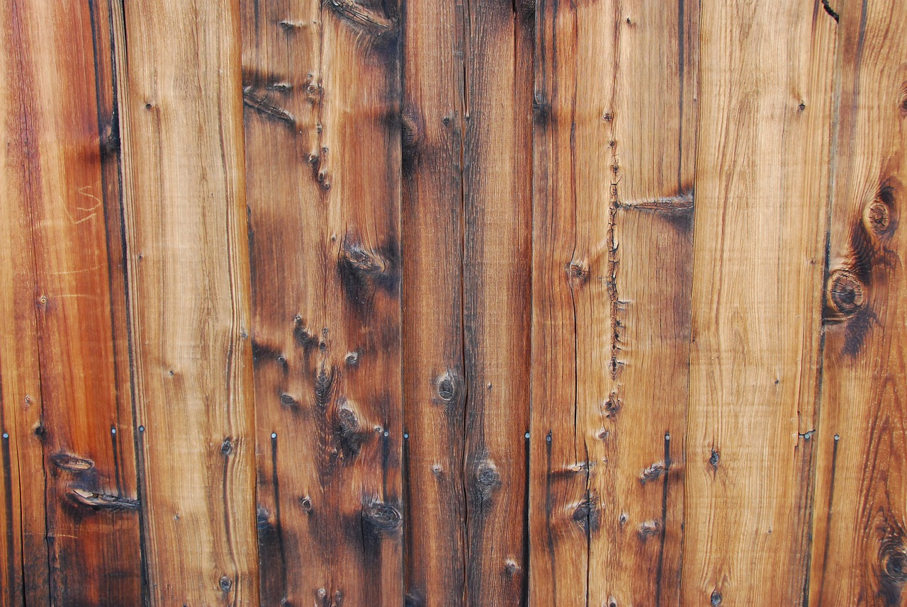 reclaimed wooden fencing