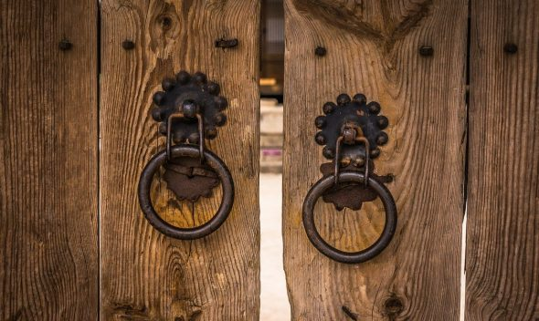 wooden front gate
