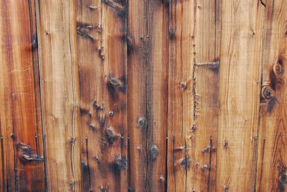 reclaimed wood front gate