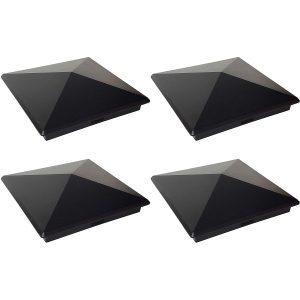 4 pack black 8″ x 8″