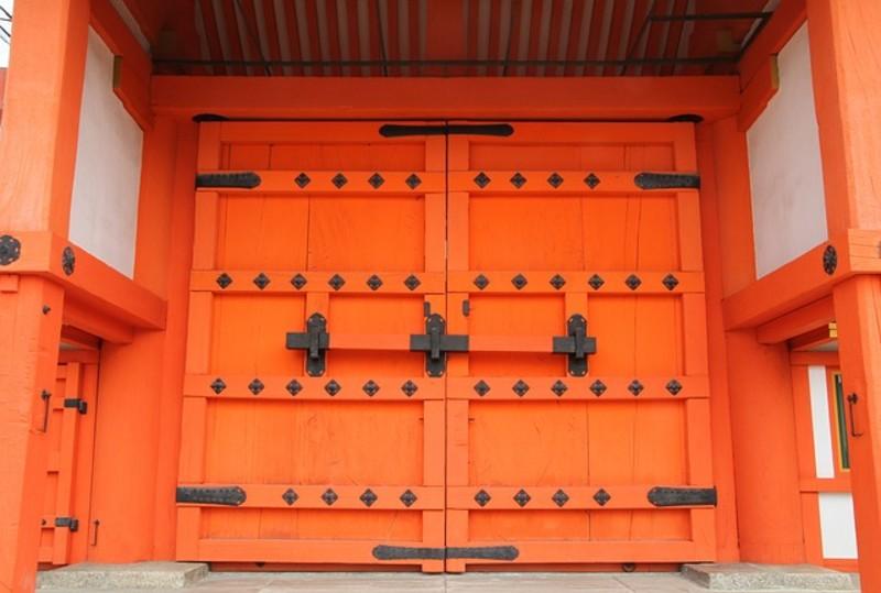 vibrant door orange