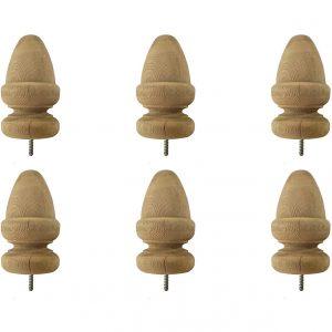 Wood Acorn Top (6pack)