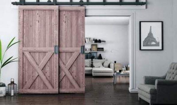 rustic rolling doors