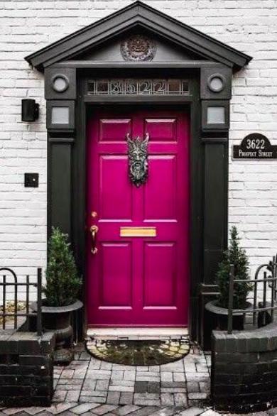 front door purple