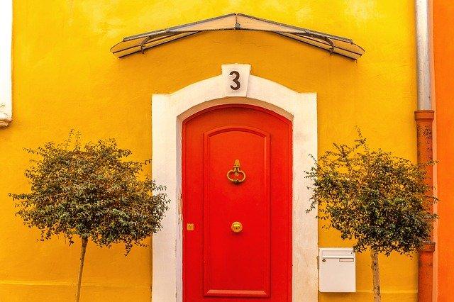 bright door orange door