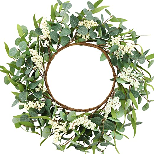white wreaths