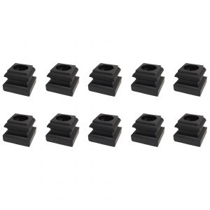 """10 Pack 5/8"""" Baluster Flat Base Shoe With Set Screw For Use With 5/8"""" Round Iron Balusters - (Satin Black)"""