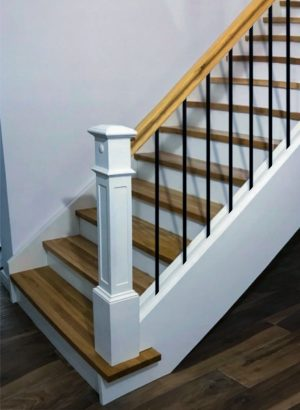 """Iron Stair Balusters 5/8"""" Round x 44"""" Long, Classic, Hollow, Black Powder Coated - 30pcs - (Satin Black)"""