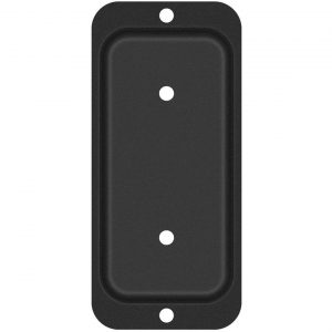 "Nuvo Iron Steel 2"" x 4"" Rail Hanger Bracket, Black - RH24B"