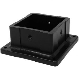 "Nuvo Iron 4"" X 4"" Plastic Post Anchor, Black - PPA4X4B"