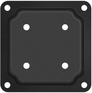 """Nuvo Iron 4"""" x 4"""" Wood Post Plate Connector, Black - WPCP4B"""