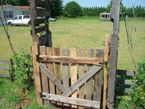 rustic pallet fencing
