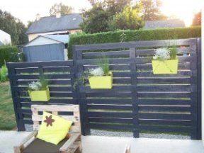 contemporary pallet fences
