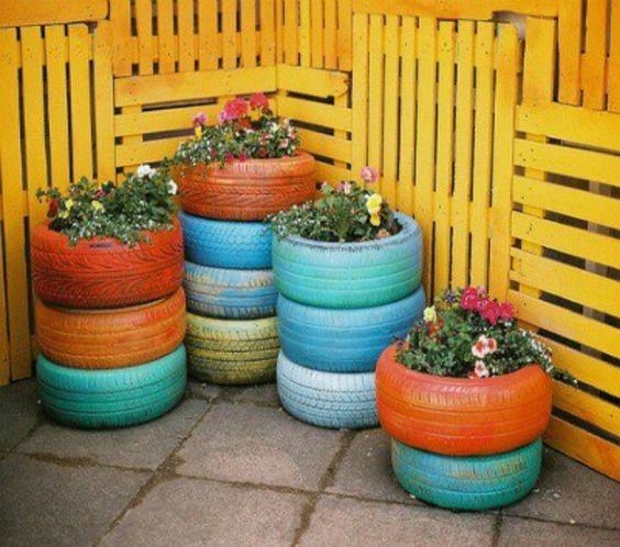 colour pallet fence