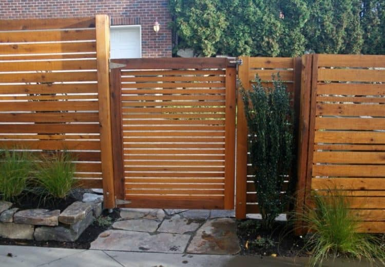 designer pallet fence