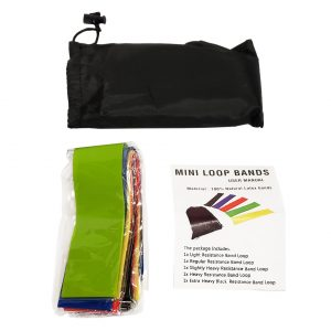 Resistance Band Set - Natural Latex - Set of 5 Bands - Increasing The Effectiveness of Exercises