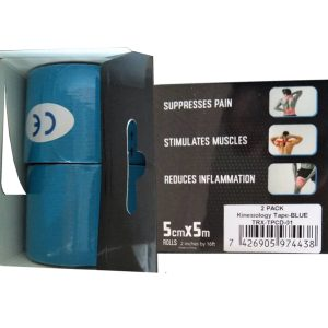 "Kinesiology Tape 2"" x 16' (Two Precut Rolls) - Blue"