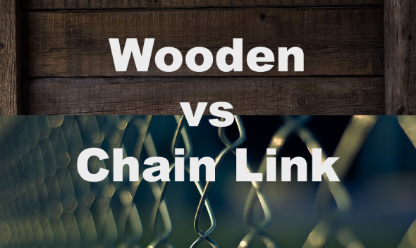 wooden vs chain link fence